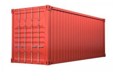 红色货柜箱